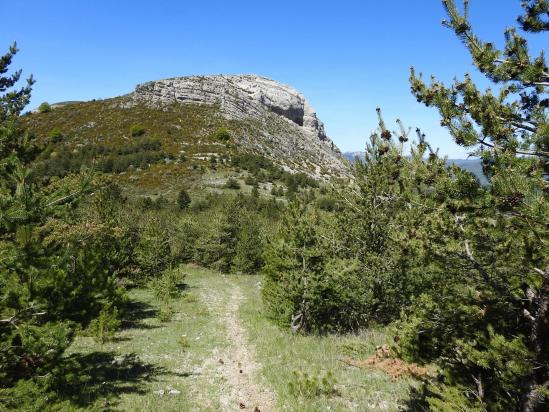 Au col de Verdun face à la montagne du Pied du Mulet