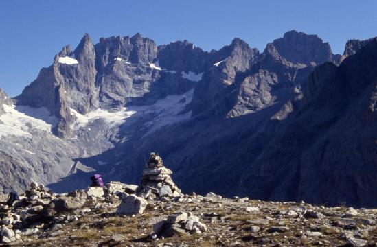 Le massif de la Meije vu depuis le sommet de la Tête de la Maye