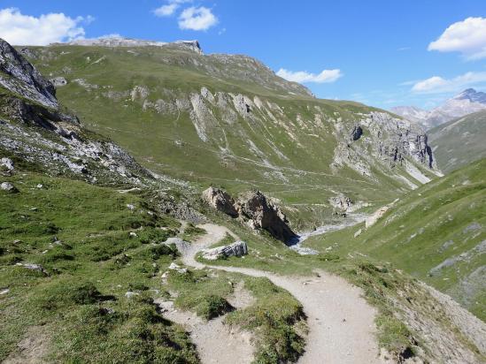 Descente du col de la Rocheure par le vallon des Pissets