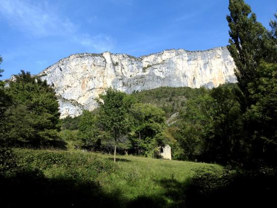 Le Rocher d'Anse vu depuis les ruines de Langilla
