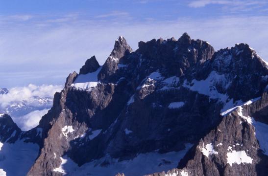 Vue sur la Meije depuis le sommet de la Grande Ruine