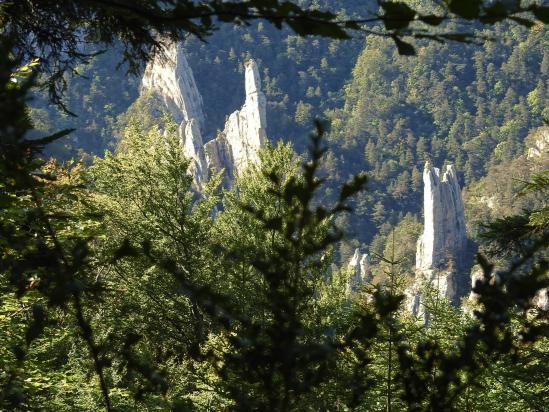A Piégu, on domine quelques unes des flèches des Sucettes de Borne
