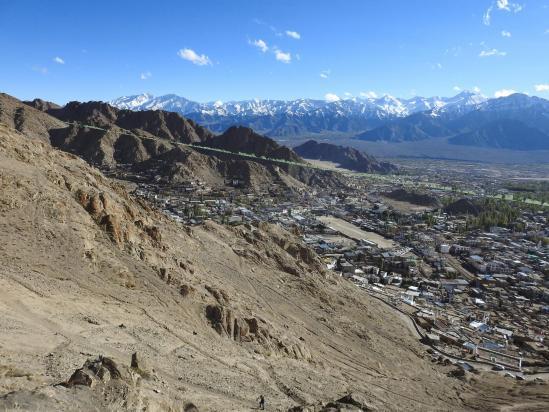La ville de Leh vue de Tsemo gonpa