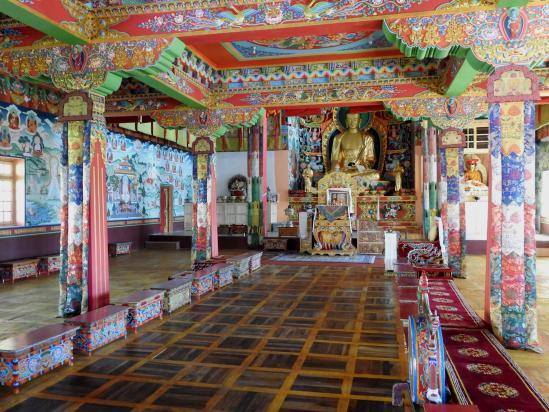 La nouvelle salle de prières du monastère de Phyang