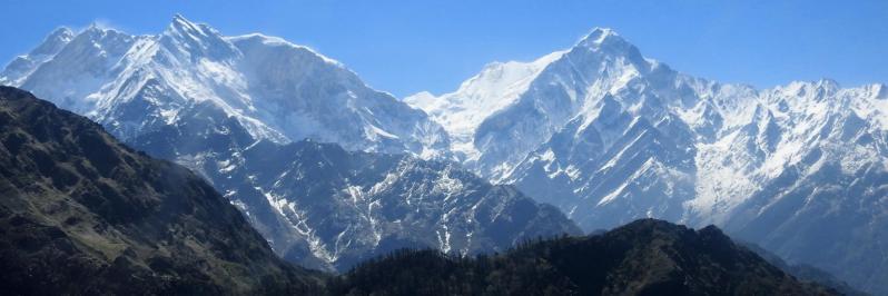 Le Fang (Annapurna I) et l'Annapurna S vus depuis l'avion à hauteur de Khopra danda