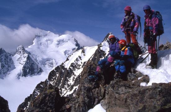 La Barre des Ecrins vue depuis le sommet de la Roche Emile Pic