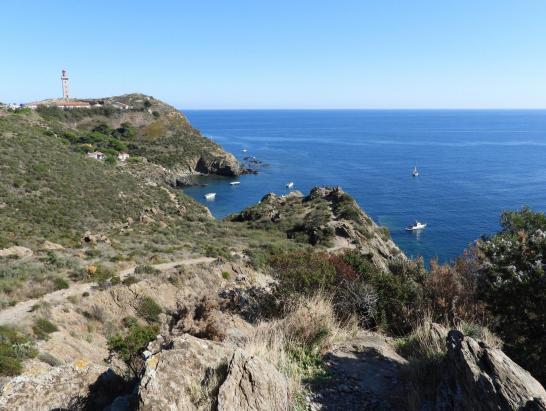 Sur le sentier littoral entre le cap Béar et Paulilles, l'anse Sta Catarina