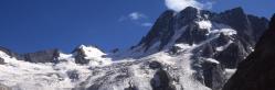 Le glacier de la Pilatte vu depuis le refuge