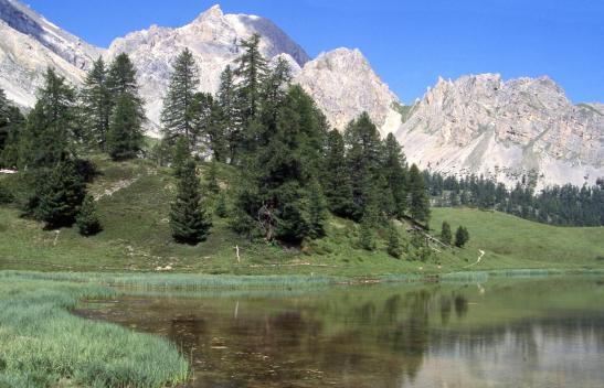La Crête des Veyres vues depuis le lac Miroir