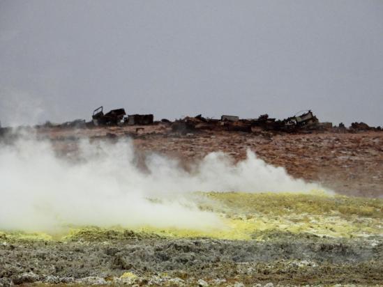 Les salfatares du volcan Dallol