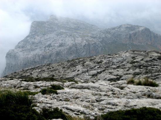 Ascension du Puig Tomir un jour de mauvais temps, pas de chance...