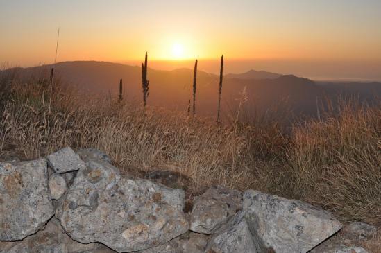 Lever de soleil du côté du Monte Cardo