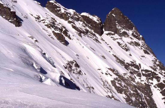 Le Grand Pic vu depuis le sommet de la Tête des Corridors