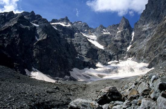Descente du Glacier Noir (Pic Coolidge, Fifre et col des Avalanches)