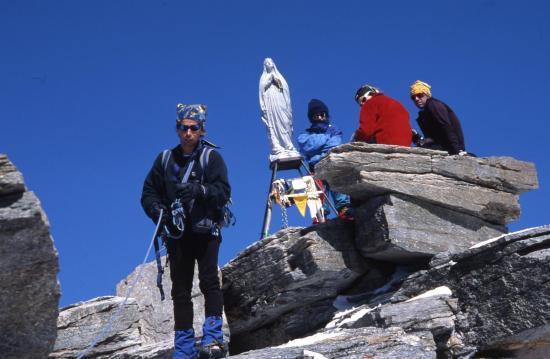 Gigi Airone au sommet du Gran Paradiso