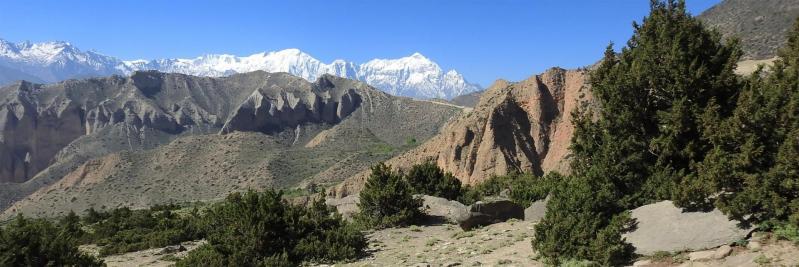 Côté Samar, traversée du plateau avant d'attaquer la grimpette pour passer le col qui donne accès au vallon de la Bhena khola...