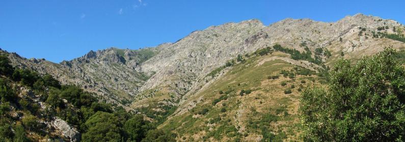 Vue du Monte Padro à la Bocca di Laggiarello