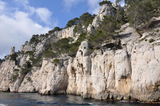 La calanque d'En Vau (vue de la mer)
