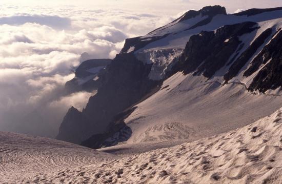 Le glacier du Monêtier au petit matin