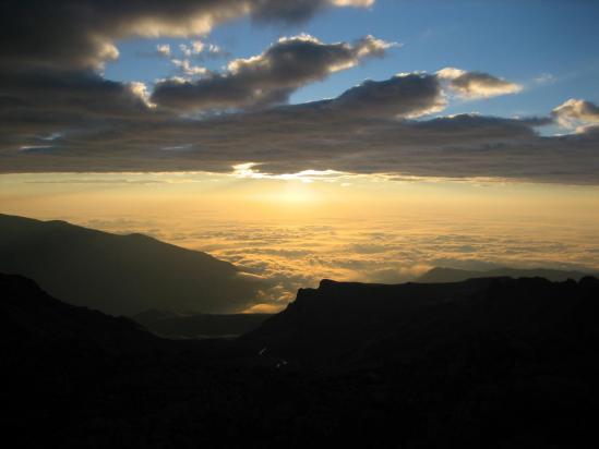 La plaine du Po vue depuis le refuge Quintino Sella
