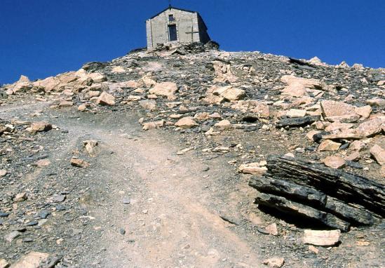 A l'approche du sommet du Mont Thabor