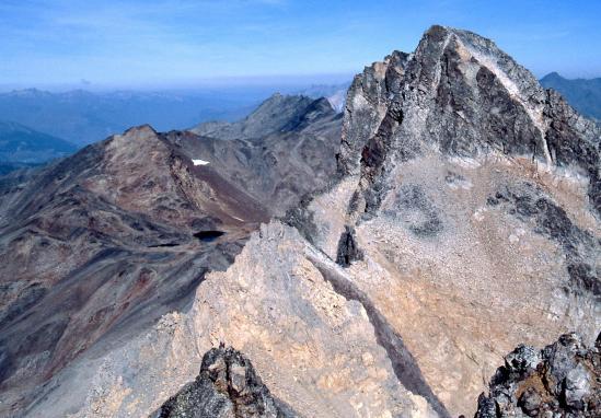 Le pic du Thabor vu du sommet du Mont Thabor