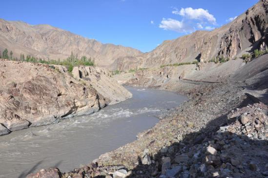 La vallée de l'Indus du côté d'Alchi
