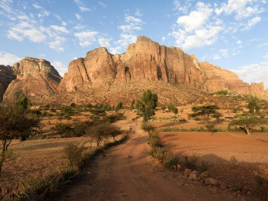 Au pied des falaises E du massif du Gheralta