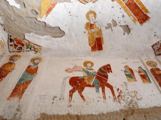 L'intérieur de l'église Abuna Daniel