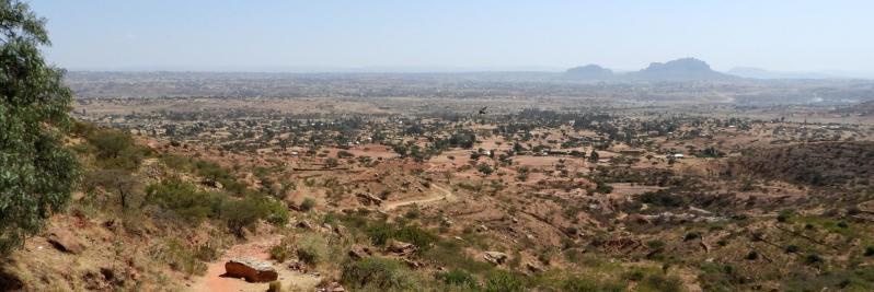 L'immensité du plateau qui succède aux falaises du Gheralta