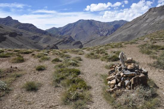 Sur la RG de la Tsarap Chu à l'approche de Lahaul