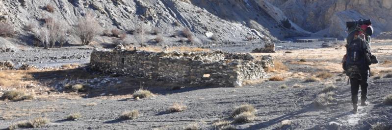 Départ du camp de la Chhujung gonpa khola