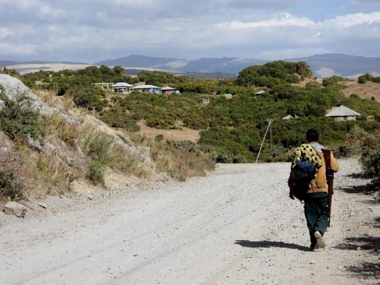 A l'approche du campement de Sankaber