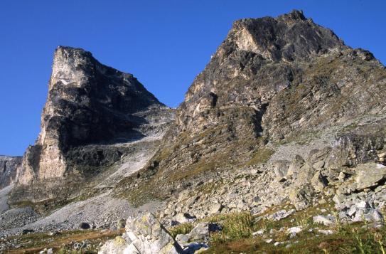 Le Grand Bec d'Etache vu depuis le lac du Plan des Eaux