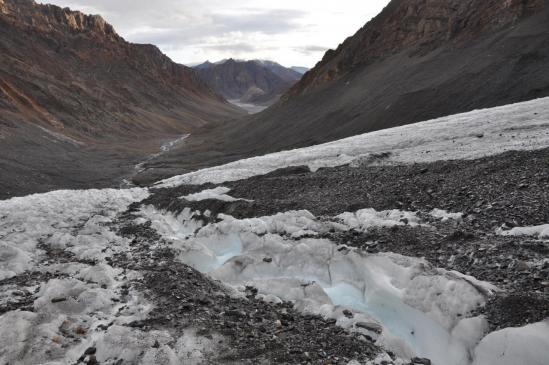 Remontée du glacier du Parang