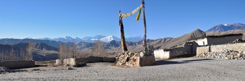 Arka, village sur la route de Lo Monthang au Tibet