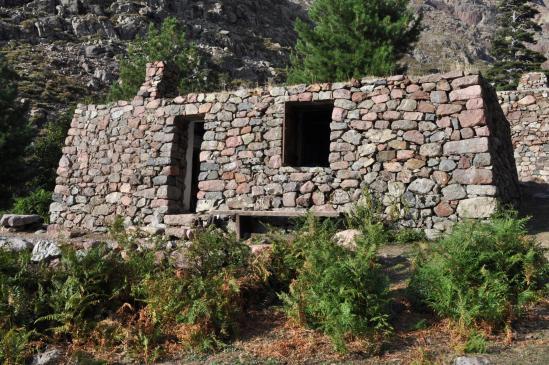 Le refuge de Puscaghja dans la haute vallée de la Lonca