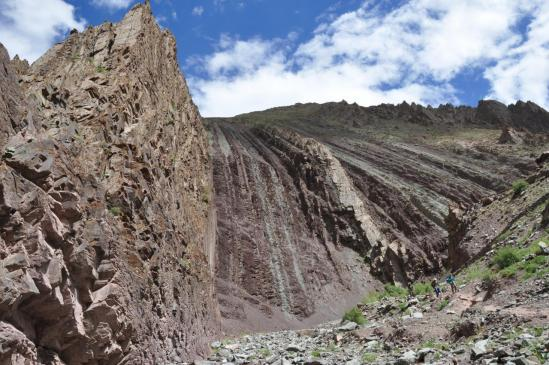 Descente dans la vallée de la Skurmo Chu