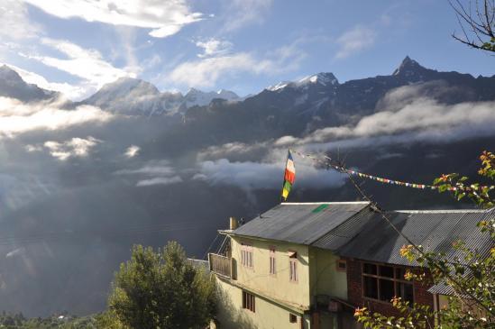 Depuis Kalpa, vue sur le massif du Kinnaur Kalaish