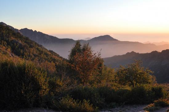 Coucher de soleil à Ortu di u Piobbu