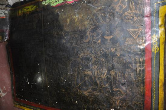 Peintures murales du vieux gonpa (Ghilling)