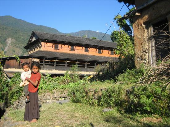 Bahunedanda, un village situé au dessus de la Marsyangdi khola