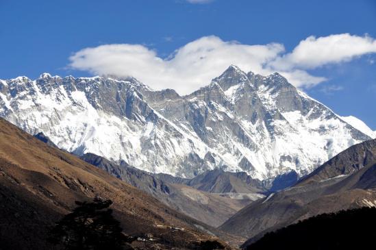 Nuptse, Sagarmatha et Lhotse vus depuis Tengboche
