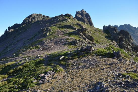 A la bocca di Tartagine, à droite toute pour s'engager sur la crête qui conduit au sommet du Monte Corona