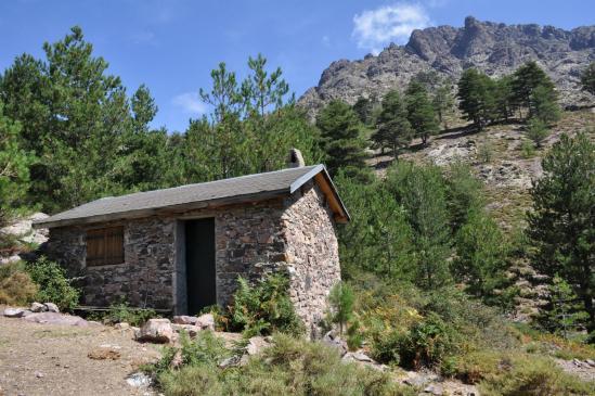 La maison forestière que l'on croise à la descente de la bocca di l'Ondella