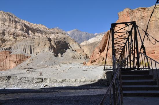 Traversée de la Kali Gandaki à Chele