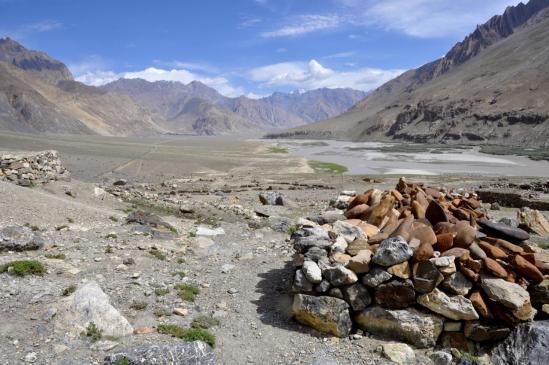 La vallée de la Zangskar Chu depuis Hoina