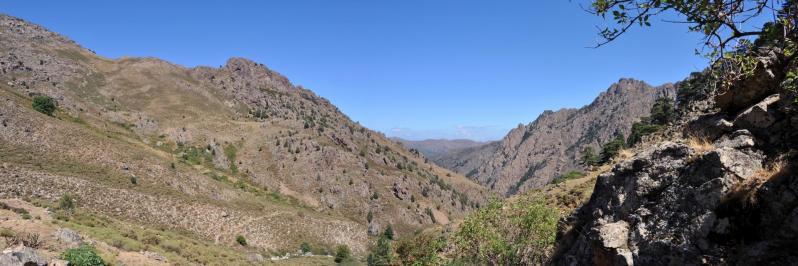 Un peu plus haut dans le vallon de Pinara