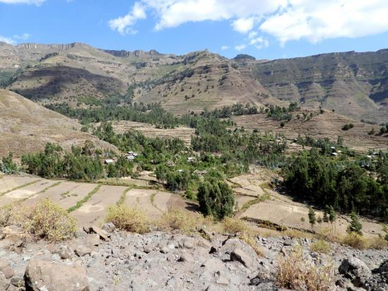 Le vallon de Selassié où se finit le trek