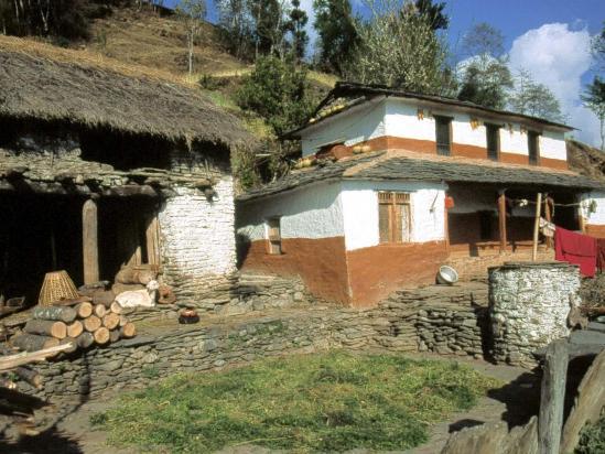 Maison gurung du village de Jhi